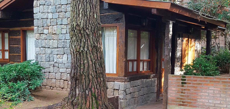 Detalle de la cabaña